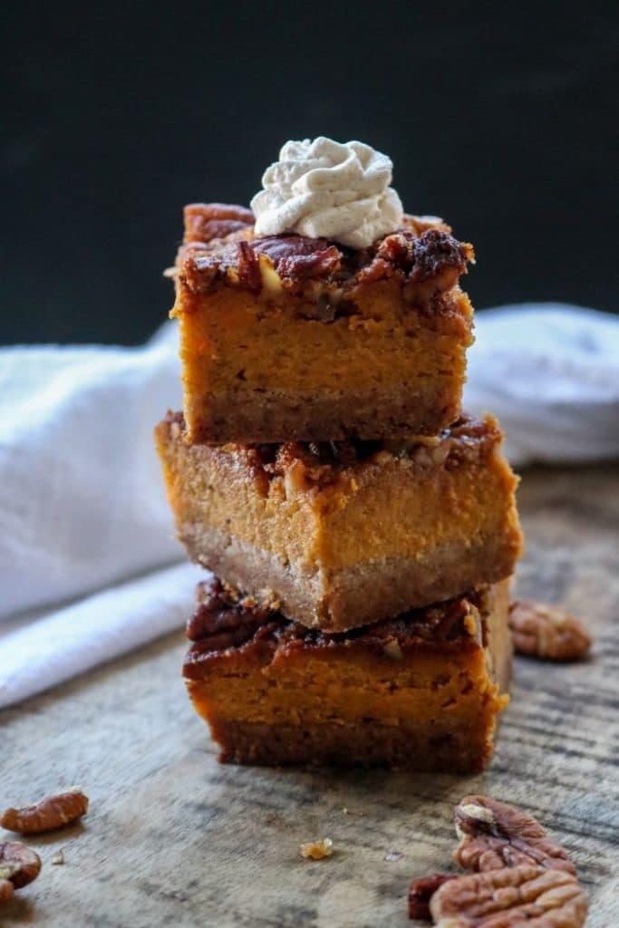 Low Carb Sweet Potato Pie Bars