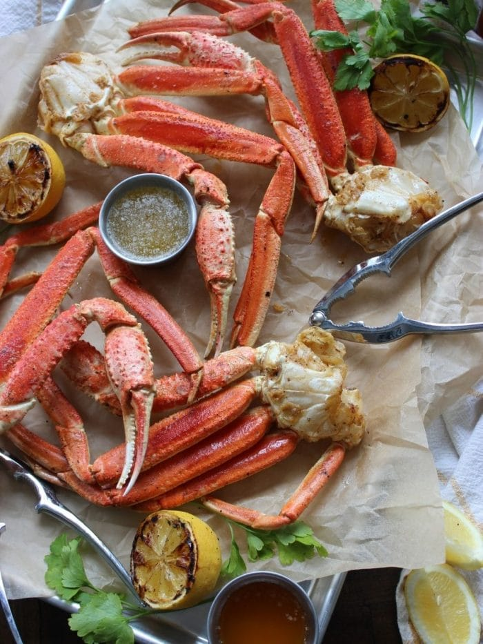 Easy 30 Minute Smoked Crab Legs