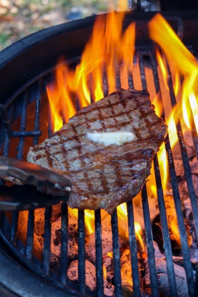 Grilling A Steak