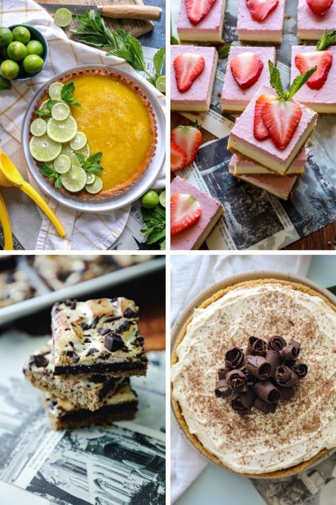 Keto desserts (4) showing the use of Keto Graham Cracker Crust