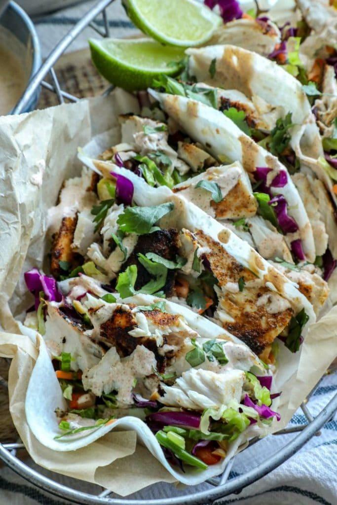 Low carb Blackened Mahi Mahi Fish Taco
