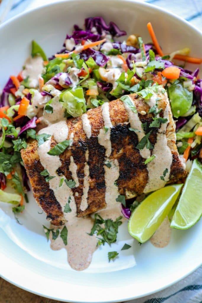 Easy Blackened Mahi Mahi Fish Taco Bowls