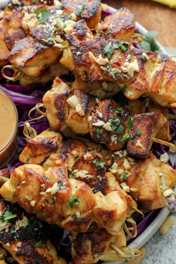 Easy One Pan Thai Inspired Satay Chicken