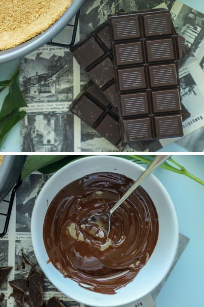 Keto chocolate for Keto French silk pie.