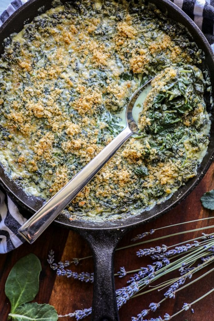 Keto Creamed Spinach with Boursin Cheese