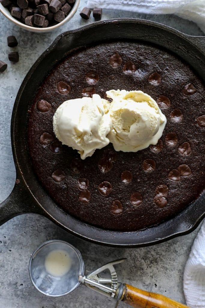Fudgy Keto Skillet Brownies